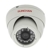 """SunChan 1/3 """"Color CMOS 600TVL 6mm Lente Día/Visión Nocturna Cámara De La Bóveda Del CCTV de Seguridad De Vídeo En Interiores vigilancia Cámaras Domo"""