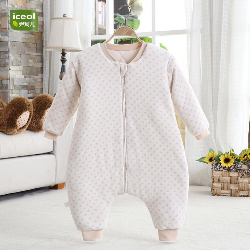 Boy Girl Sleeping Bag Natural Color Organic Cotton Baby Blanket Autumn Kids New Jumpsuit Bedding Winter Zipper Children Sleepers muslin cotton baby blanket children kids boy girl cartoon thick 6 layers baby swaddle blanket meias bebe bedding quilt blanket