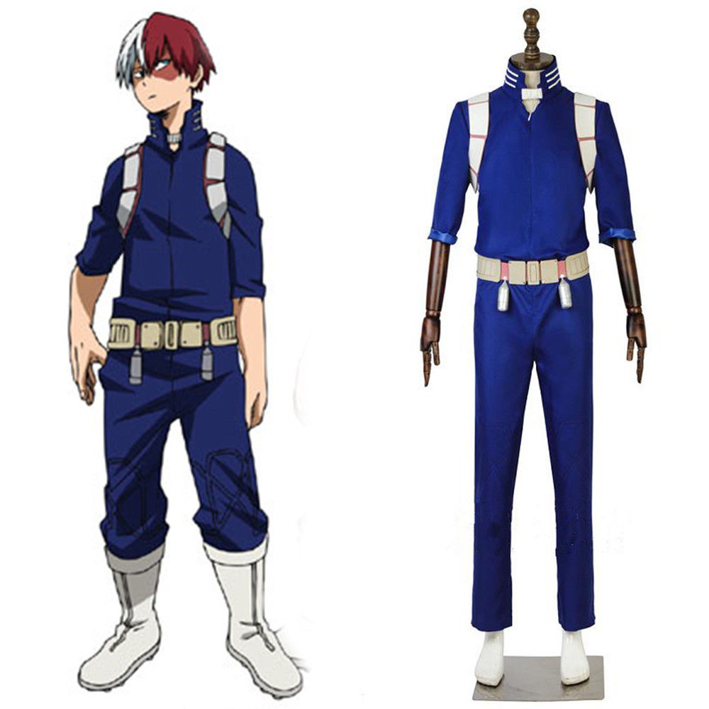 My Boku No Hero Academia Costume Todoroki Shoto Battle Uniform Cosplay Full Set