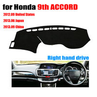 RKAC Car dashboard covers For Honda new 9th ACCORD Right hand drives dash covers pad dashmat Instrument platform accessories