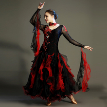 Ballroom Competition Dance Dress Adult New High Quality Long Sleeved Stage Show Tango Waltz Flamenco Ballroom Dance Dresses