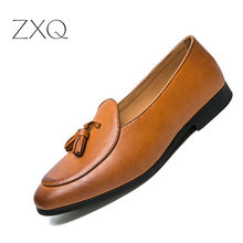 British Vintage Men Casual Shoes Fashion Male Leather Loafers Leisure Moccasins Slip On Mens Driving Shoe