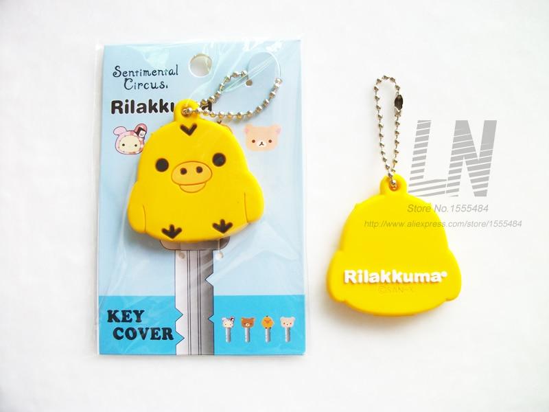 Tecknade djur nyckel Cap Uggla Keychain Kvinna Bag Charm Key Holder - Märkessmycken - Foto 2