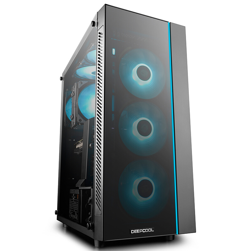 DEEPCOOL  MATREXX55 Computer Case (2 Glasses / RGB / ATX Motherboard / Game Computer Chassis / Support RTX2080 Graphics Card)