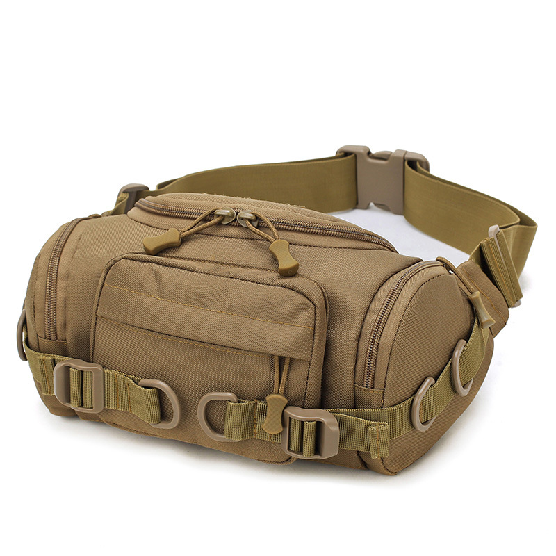 Large Capacity Tactical Waist Bag Camouflage Military Army Pockets Outdoor Riding Bags Multi-function Nylon Pack Running Bag