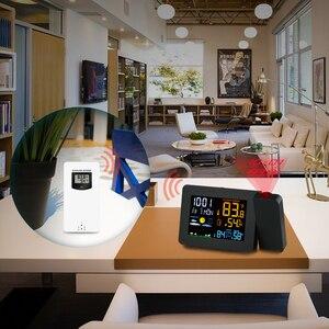 Image 5 - Protmex PT3391 Projectie Weer Klok, Radio Controlled Klok Weer Monitor Indoor/Outdoor Thermometer