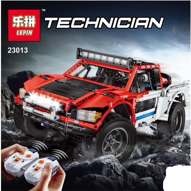 Lepin 23013 Genuine Technic Series The Remote-Control Off-road Car Set 2314Pcs Building Blocks Bricks Toys as Children Gifts lepin 20054 4237pcs the moc technic series the remote control t1 classic volkswagen camper set 10220 building blocks bricks toys