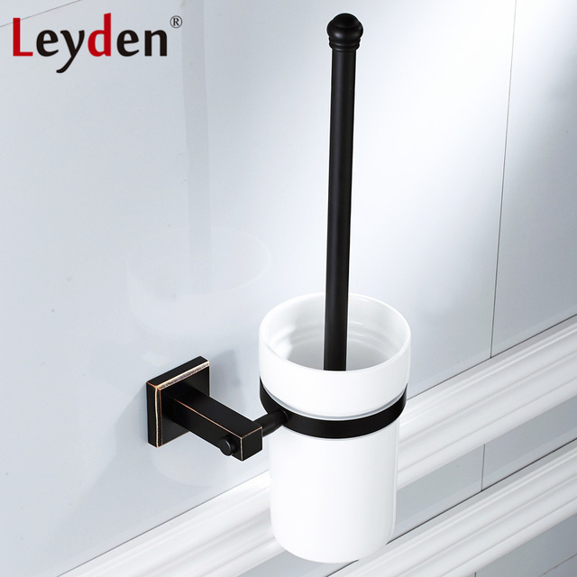 Leyden New Br Oil Rubbed Bronze Black Toilet Brush Holder With Wall Mounted