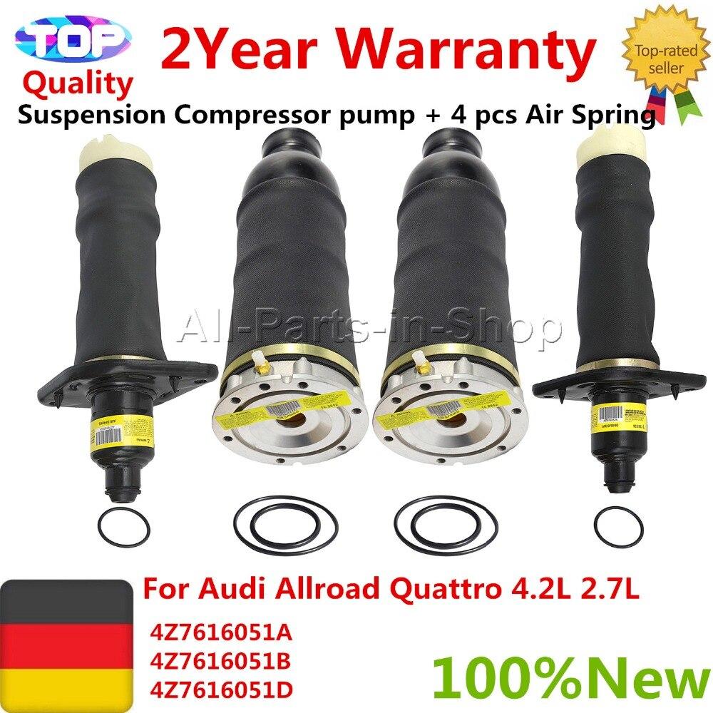 4 pcs Air Spring For Audi Allroad Quattro 4Z7616051A 4Z7616051B 4Z7616051D