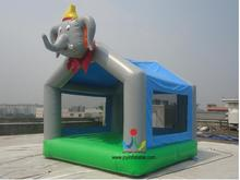 4X4M Mini Commercial Kids Elephant Inflatable Bouncer For Sale
