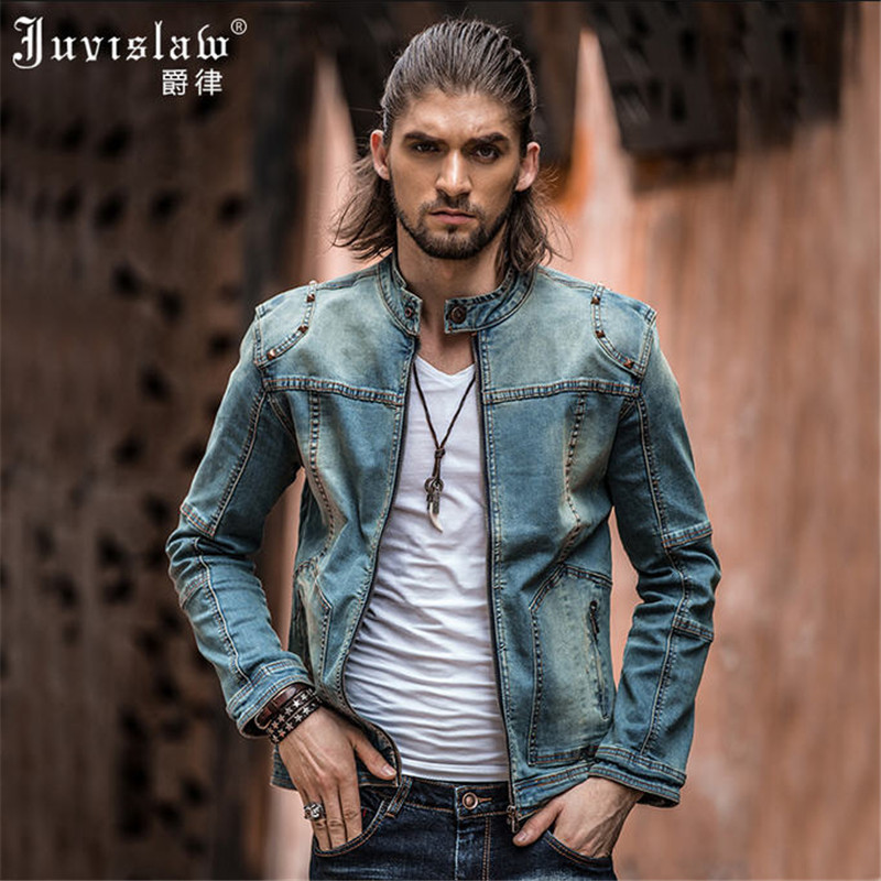Vintage Mens Ripped Denim Jacket Brand Designer Fashion Washed Slim Fit Jean Jackets For Man Plus Size Jeans Clothing XXXL A817-in Jackets from Men's Clothing    3