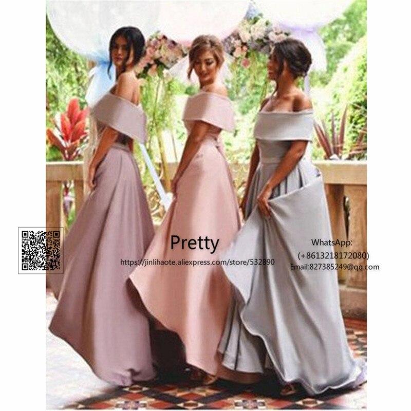 Hi Lo Gown 2017 Off Shoulder Bridesmaid Dresses Long Wedding Guest Dress  Maid of Honor Wedding Party Gown Bridesmaid Dress-in Bridesmaid Dresses  from ... 6ac09859b4cf