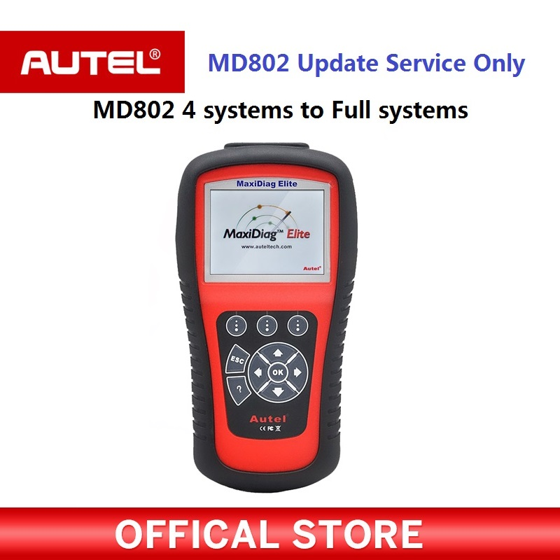 Autel Auto Link diagnostic tool MaxiDiag MD802 scanner Update Service From MD802 4 Systems To MD802 All Systems все цены