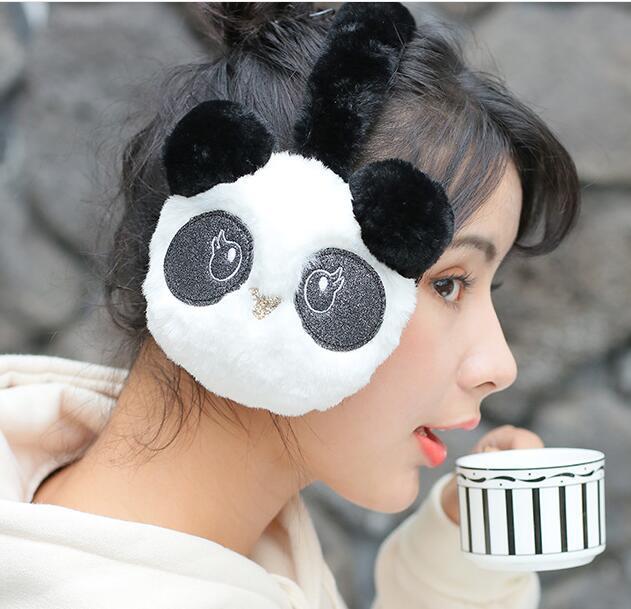 Winter Cute Panda Earmuff Ear Muff Warmer-White 5pcs