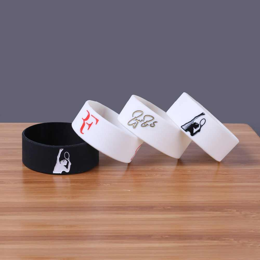 Tennis king Roger Federer Silicone Bracelets Sports Silicon Bileklik Wide Version Wristband Trendy Fashion Item Band