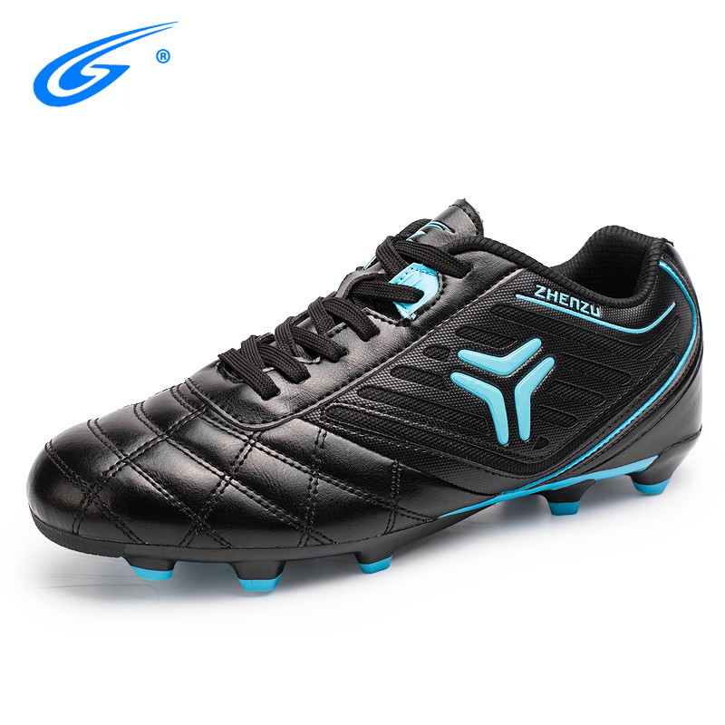 Professional Indoor 34-44 Size Men Soccer Shoes Breathable Long Spikes Football Boots Artificial Grass Ground(AG) Kids Training leoci new men kids football boots ag soccer shoes boys adult artificial grass ground soccer cleats botas de futbol size 33 44