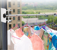 2017 Newest dormitory balcony window scale small outdoor metal clothes rack hangers for sale