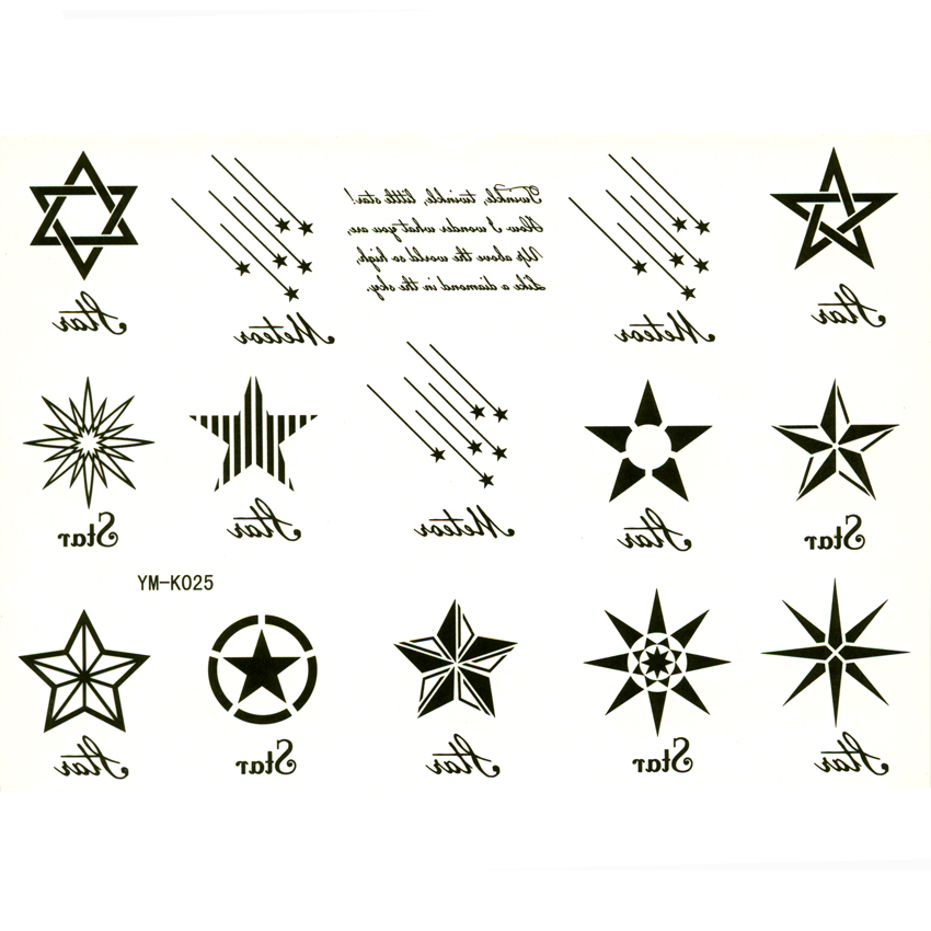 Six point star tattoo pictures to pin on pinterest for Five points tattoo