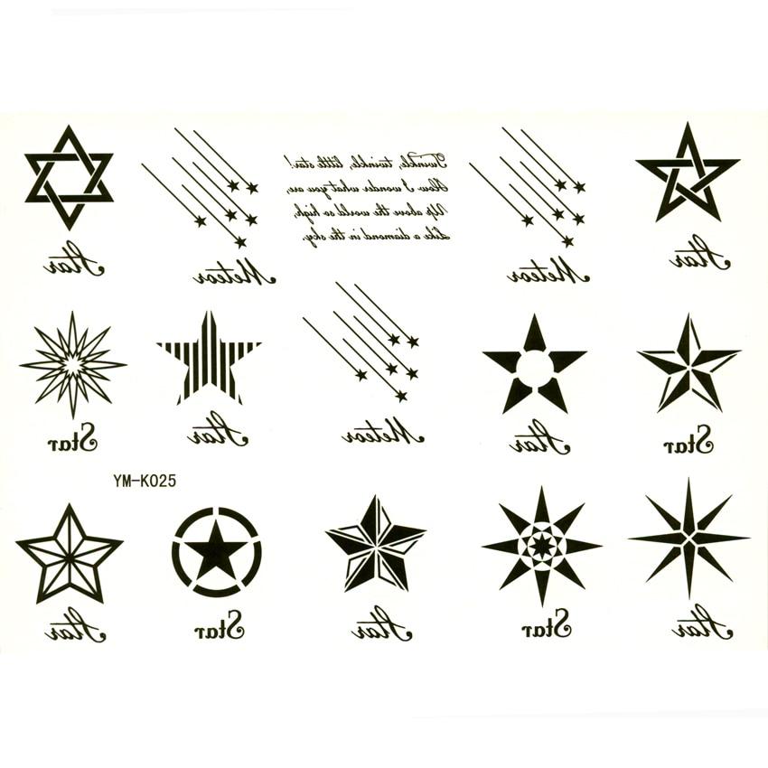 Aliexpresscom Comprar 12 estrella tatuaje temporal tijdelijke
