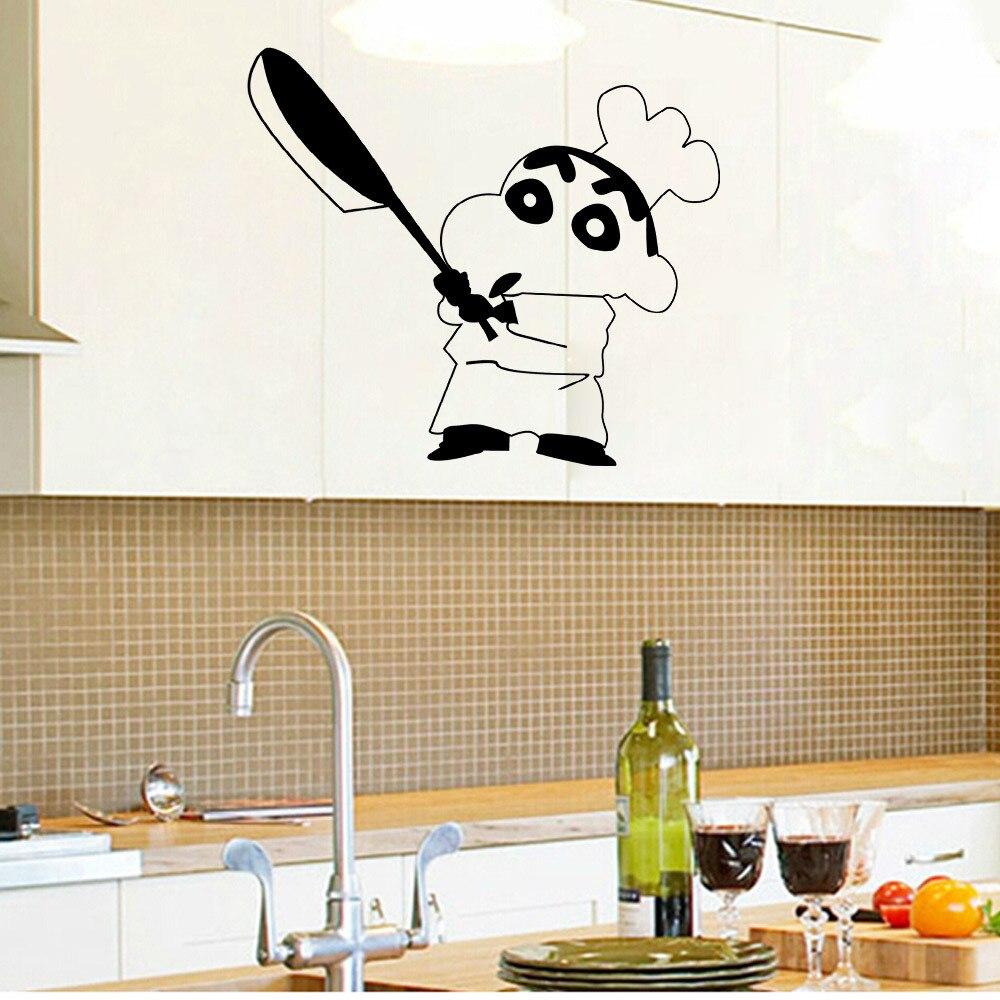 Japanese Cartoon Vinyl Wall Sticker Crayon Shin chan Sticker on ...