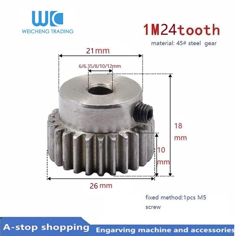 2P Tapered Bevel Pinion Gear 12mm Hole Diameter 45# Steel 1.5 Module 16 Teeth