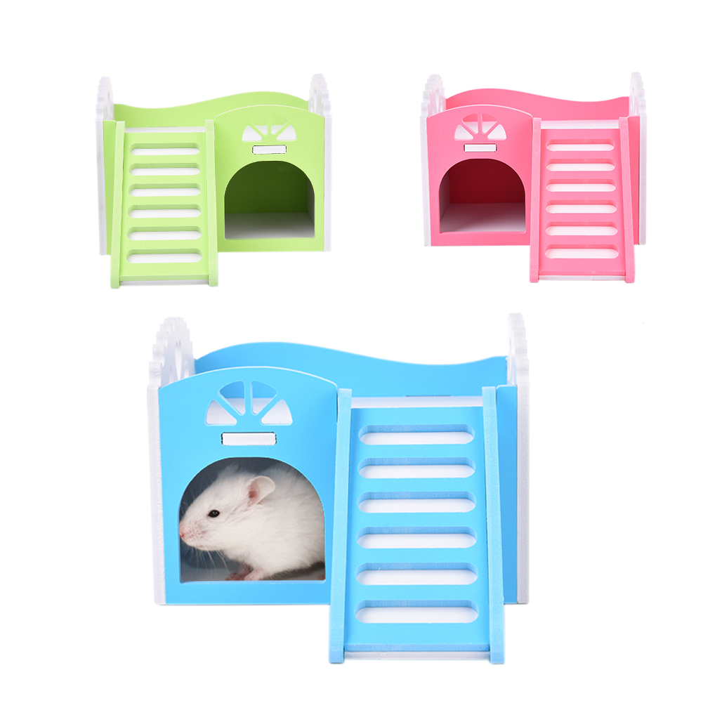 Mascota Small Pet Animal Bunk Beds Climbing Toy with Stairs for Hamster Chinchillas Guinea Pigs Small Pet House Cages for Hamste
