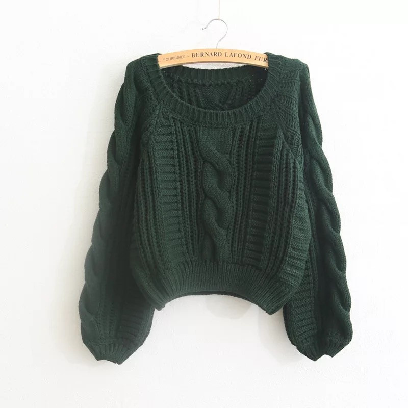 3b5b4f70fc New 2018 Spring Autumn Casual Women Sweaters And Pullovers Lantern Sleeve  Short Sweater Loose Pull Femme -in Pullovers from Women s Clothing    Accessories