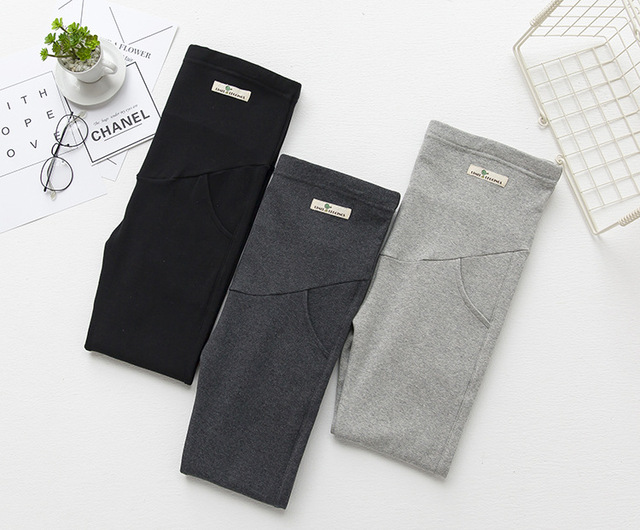 Winter  Thickening Maternity Leggings Pants Clothes For Pregnant Women Warm High Waist Suspender Pregnancy Trousers