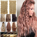 """5 Clip in Hair Extensions 22"""" Long Corn Wave Hair Extensions Cheap Synthetic Hair Piece Multicolor Available"""
