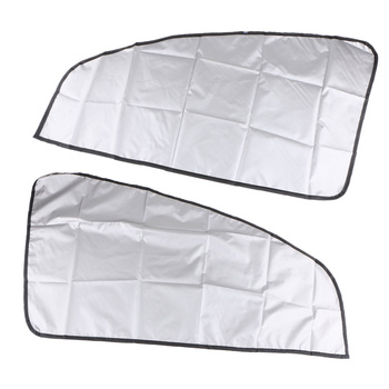 1 Pair Magnetic Sunshade Shield Curtains Double Sides UV Protection Rolling Cover for Car Oblique Window image