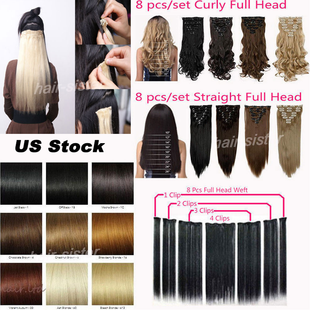 Premium quality local warehouse full head clip in hair extensions premium quality local warehouse full head clip in hair extensions 8 pieceset long 1724 diy salon finest 18clips ins on aliexpress alibaba group pmusecretfo Image collections