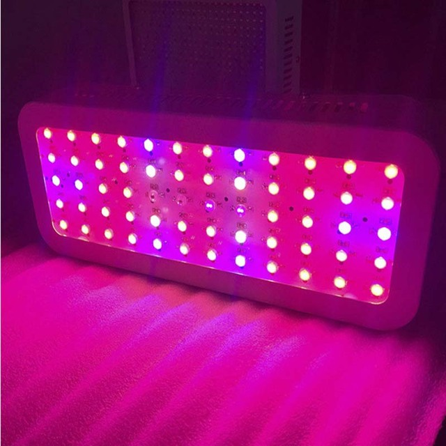 LED Grow Light Full Spectrum Double Chip 300W Rectangle Design No Flicker Plant  Lamp Hydroponics Vegetabgle