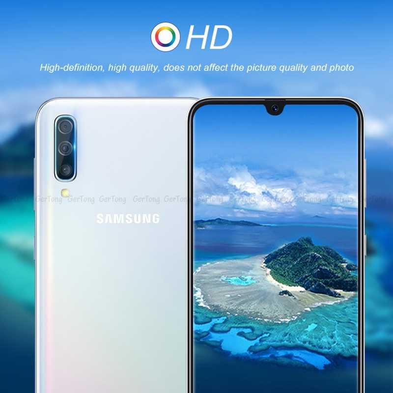 Protetor de tela para lente de câmera, para samsung galaxy a50 a30 a10 a20 m10 m20 m30 j7 j8 a7 j4 j6 plus película protetora de lente de telefone 2018,