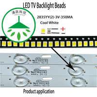 YONGYUEKEJI 100 pcs/lot highlight 2835 3 v 1 w cool white led tv hintergrundbeleuchtung perlen für reparatur led lcd tv licht bar heißer