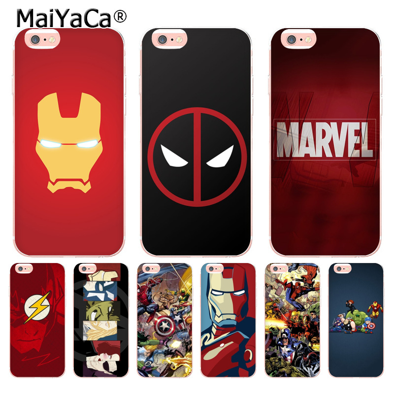 MaiYaCa Marvel Comics logo Special Offer Luxury Vertical phone case for iPhone6 6S 7 8Plus X 10 5S SE 5C 4s case Coque marvel glass iphone case