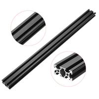HL2040 500mm Length 2040 T Slot Black Aluminum Profiles Extrusion Frame For CNC 3D Printer Furniture