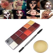 Special Effects Oil Painting Stage Halloween Party Makeup Fake Scars Wax Fake Wound Scars Wax Spatula Tool