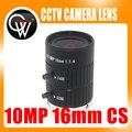 10MP 16mm HD Cámara Industrial fijo manual IRIS Focus zoom lente C montaje CCTV lente para cámara de CCTV o microscopio industrial