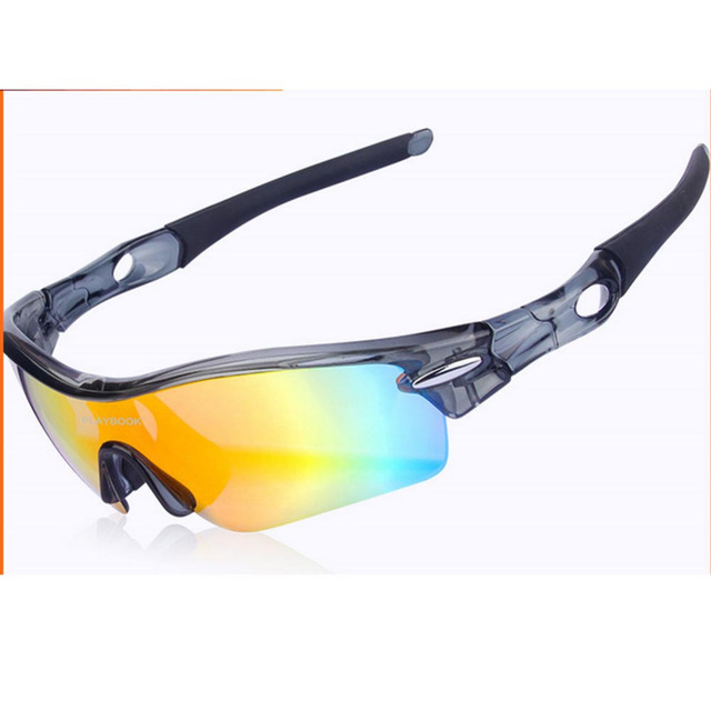 Glasses with 5 Interchangeable Lenses for Sports,Cycling,Fishing,Hiking,Driving,Climbing