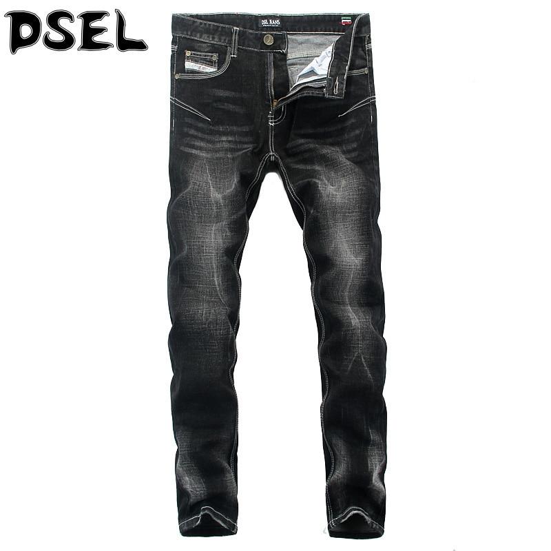 ФОТО Black Color Denim Stretch Stripe Jeans Mens Pants High Quality DSEL Brand Skinny Jeans Italian Style Fashion Design Men's Jeans