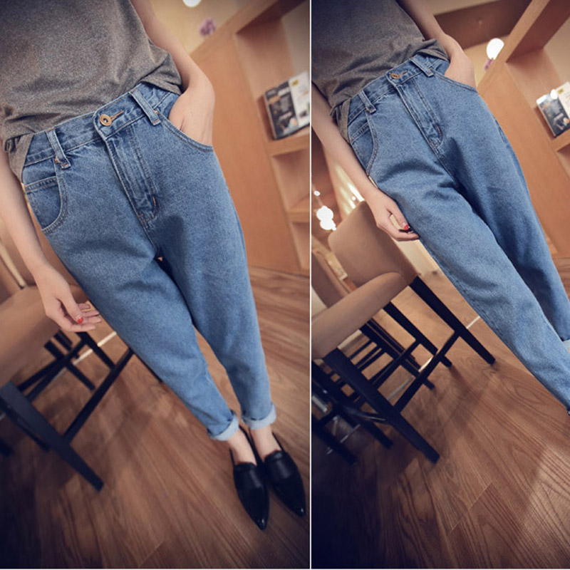 women jeans fashion spring summer new casual loose denim jeans high waist ankle length pants vintage women harem pants,LB1984 summer vintage women lace hole jeans high waist floral embroidery fashion ankle length cross pants women denim jeans harem pants