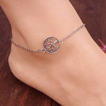 цена на Sexy Women Lady Anklet Silver Tree Charm Foot Chain Beach Sandal Ankle Bracelet