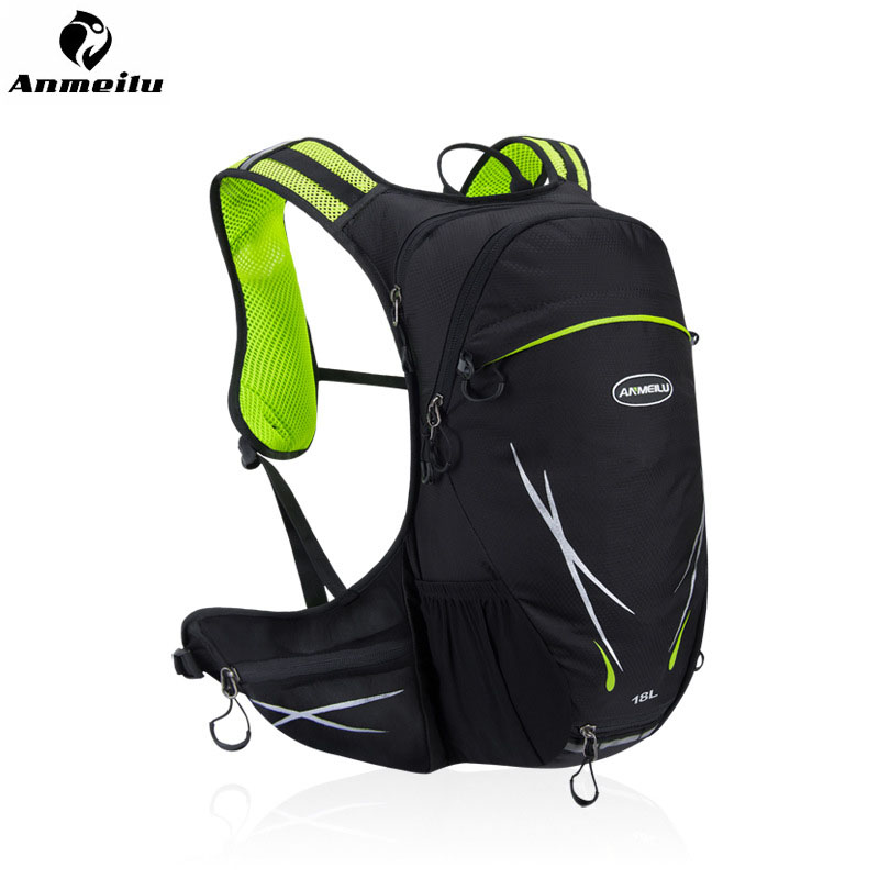 ANMEILU Ultralight 18L Cycling Motorcycle Backpack Mountain Bike Bag Hydration Pack Water Backpack Bicycle Hiking Climbing Pouch roswheel 22l ultralight cycling mountain bike bag hydration pack water backpack reflective bicycle bike hiking climbing pouch