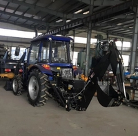Supply All Kinds of Tractor and Provide a Loader With a 4 in 1 Bucket and a Backhoe
