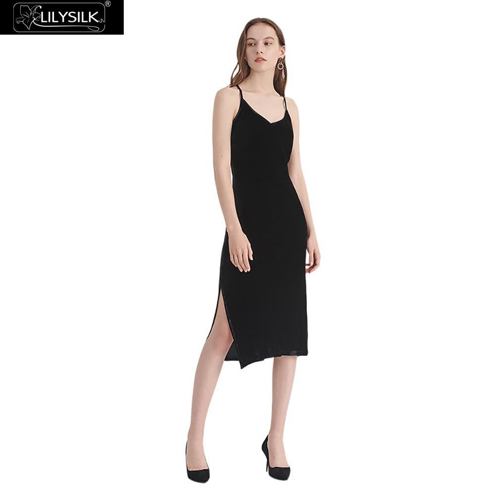 Parti Super Enchanteur Black D'été Soie Livraison Dames Femmes Lilysilk Naturel Gratuite Robe Mode Liquidation Pour Vêtements wWS7x
