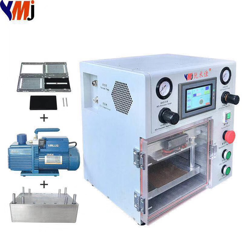 YMJ 2019 New Mini Portable Laminating Machine Max 7 Inch Laminating Glass Oca Lcd Vacuum Laminating Machine For Phone Repair