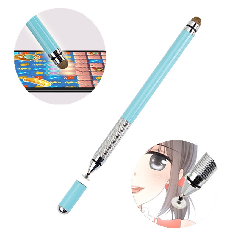 Metal Double Stylus Pen Capacitive Screen Tablet Touch Pen Kids Drawing Writing Universal Active Stylus For Android For IPad