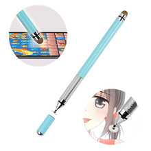 Metal double stylus pen capacitive screen tablet touch kids drawing writing universal active for android iPad