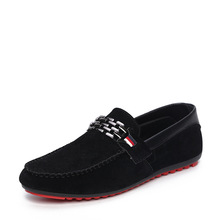 Red Bottom 2016 Men Loafers Suede Leather Shoes Slip On Male Driving Shoes Fashion Men Peas Shoes Black Blue Breathable Moccasin