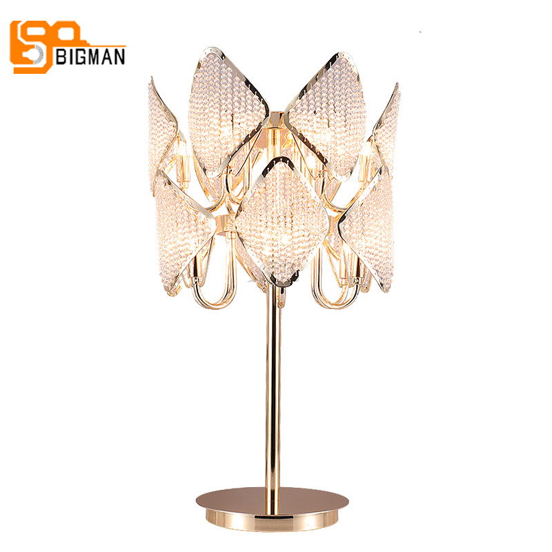 Luxury Design Gold Crystal Table Light Modern Table Lamp